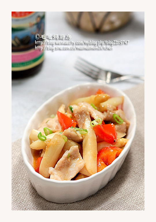 白芦笋炒肉片3 【白芦笋炒肉片】