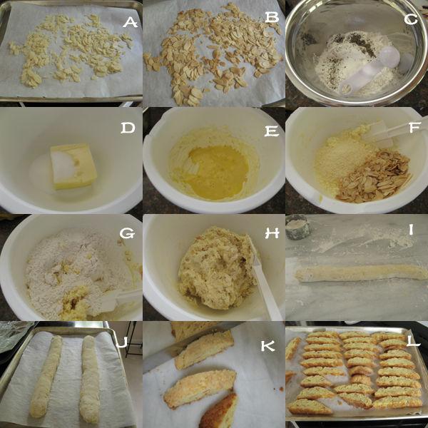 巴马干酪酥饼1 【巴马干酪酥饼】 Parmesan Biscotti