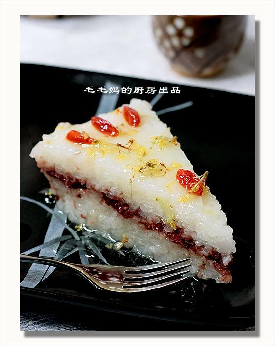 桂花豆沙凉糕1 桂花豆沙凉糕