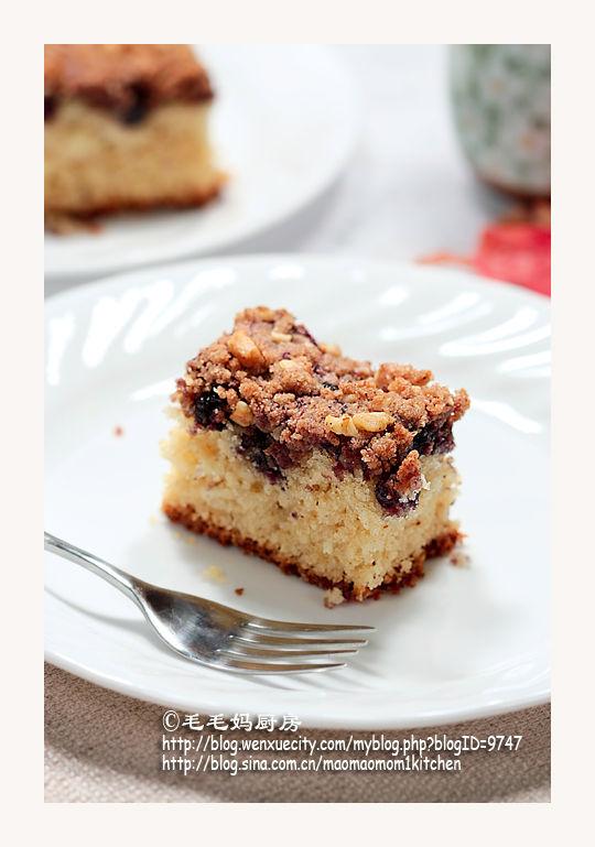 深牛油蓝莓方块糕2 【深牛油蓝莓方块糕】  Bluberry& Brown Butter Squares
