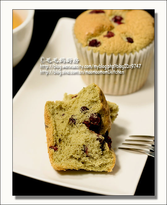 红豆绿茶戚风杯蛋糕3 红豆绿茶戚风杯蛋糕