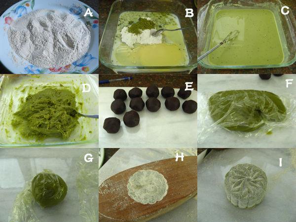 绿茶豆沙冰皮月饼3 绿茶豆沙冰皮月饼