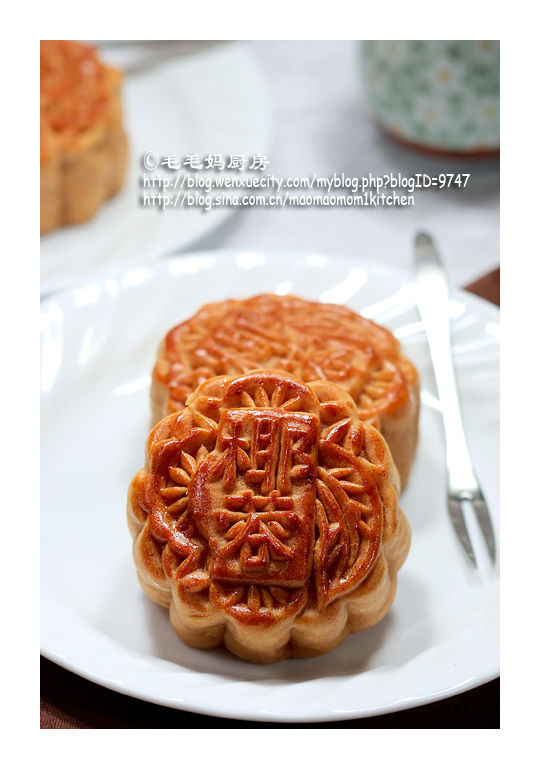 绿豆蓉馅广式月饼1 【绿豆蓉馅广式月饼】