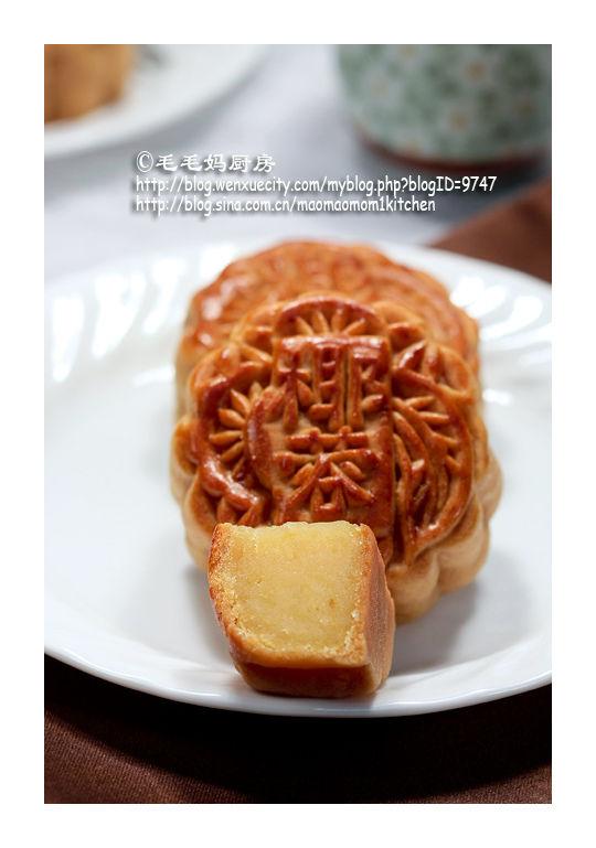 绿豆蓉馅广式月饼4 【绿豆蓉馅广式月饼】