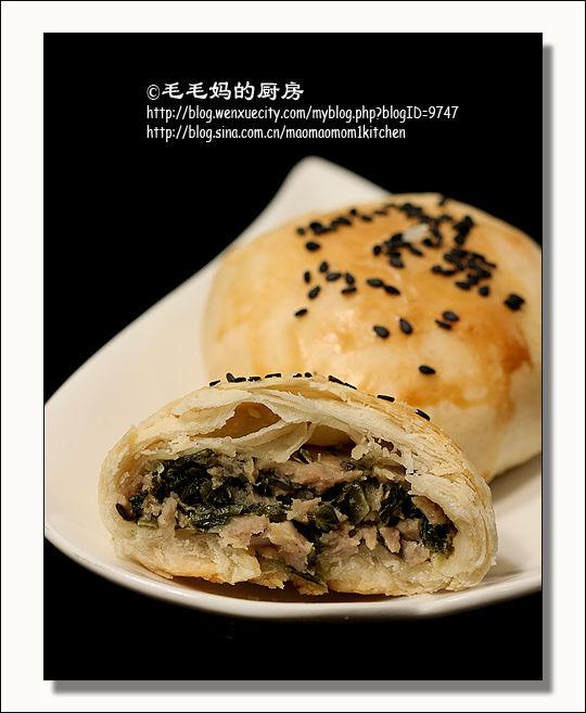 苏式雪菜鲜肉月饼3 苏式雪菜鲜肉月饼