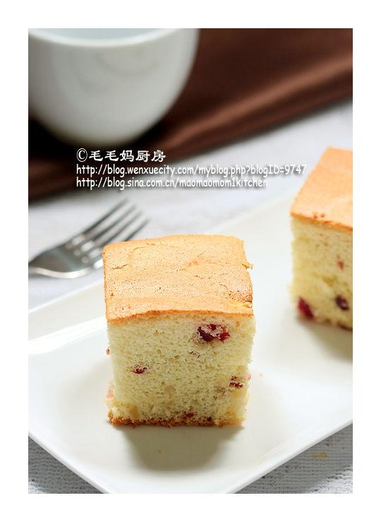 苹果蔓越莓戚风蛋糕1 【蔓越莓戚风蛋糕】