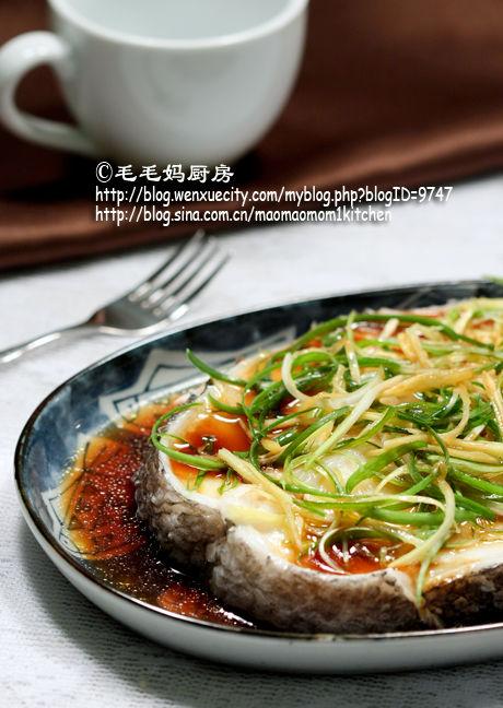 葱姜味清蒸鳕鱼1 清蒸鳕鱼 葱姜汁