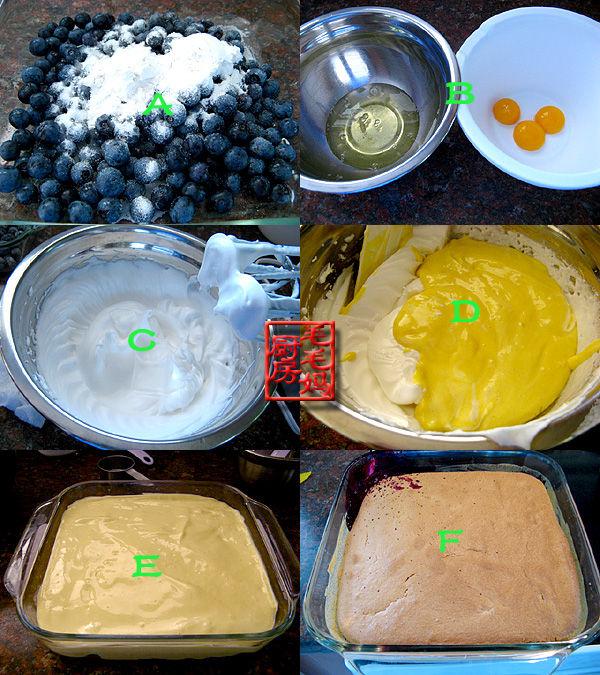 蓝莓翻转蛋糕2 蓝莓翻转蛋糕