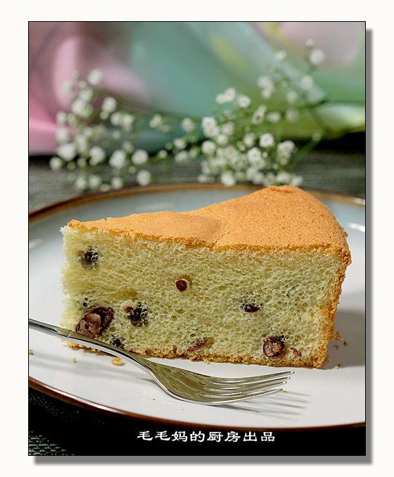蜜红豆戚风蛋糕1 蜜红豆戚风蛋糕