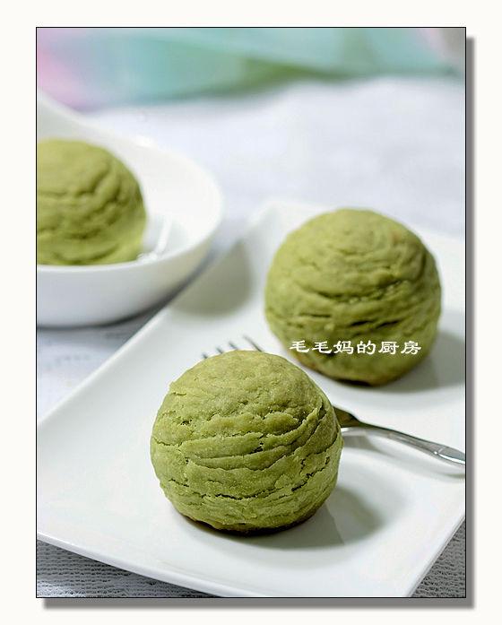 豆沙绿茶酥1 素油  豆沙绿茶酥
