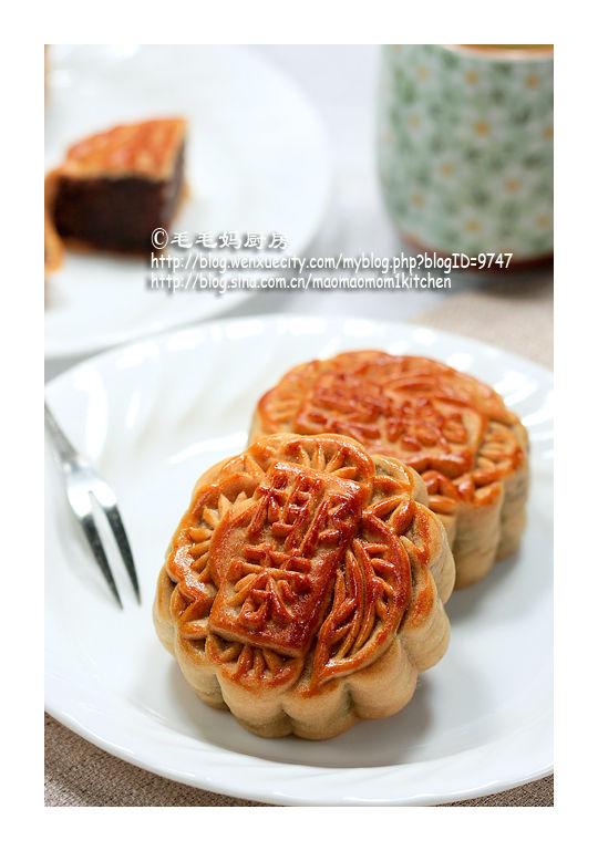 豆沙黑芝麻馅广式月饼1 【豆沙黑芝麻馅广式月饼】