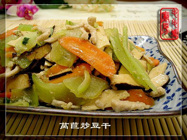 1125 莴苣炒豆干