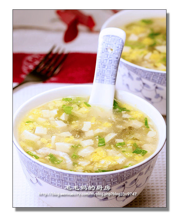 1183 酸菜蛋黄豆腐羹