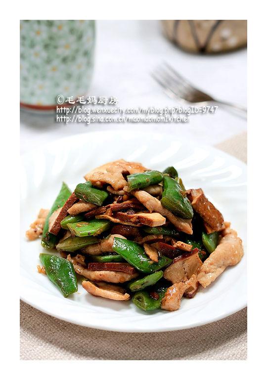 194 【豆干肉片炒扁豆】