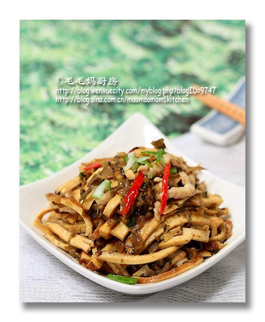 196 芽菜炒豆干