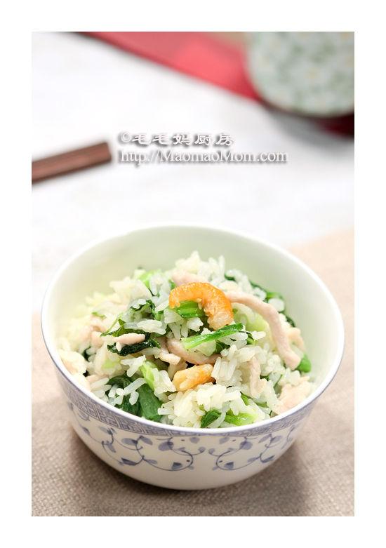 金钩肉丝菜饭3 电压力锅菜肴