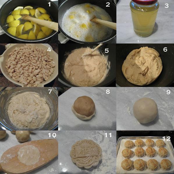 豆蓉广式月饼1 【豆蓉广式月饼】+自制糖浆+月饼制作常见问题解答资料