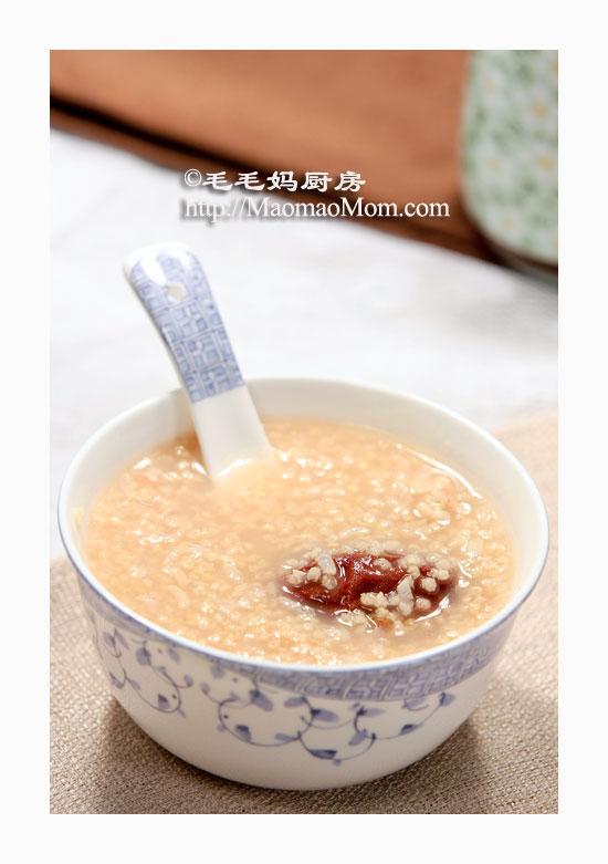 核桃蜜枣小米粥2 【核桃蜜枣小米粥】