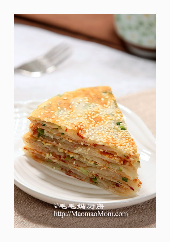 肉松葱油饼2 外酥内软层次分明【肉松葱油饼】