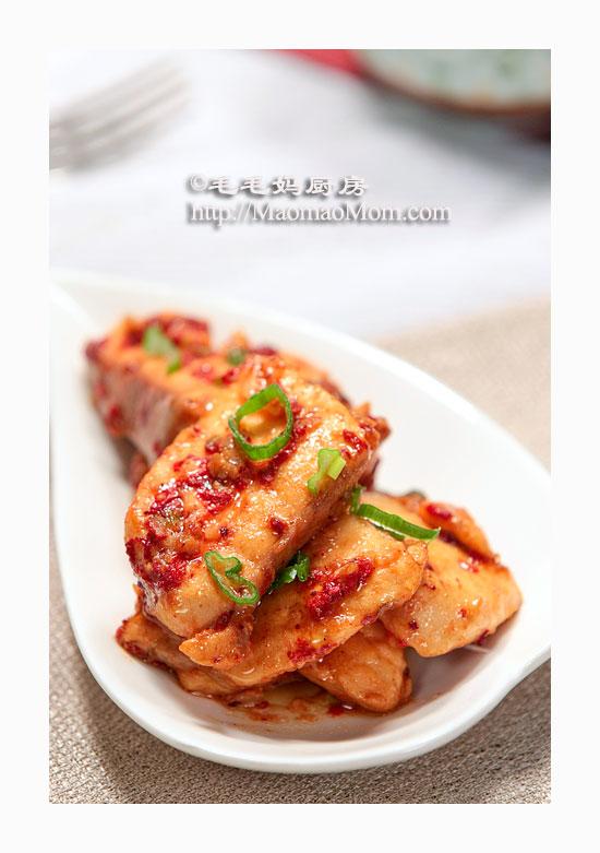 腐乳红糟鱼块2 海鲜菜谱
