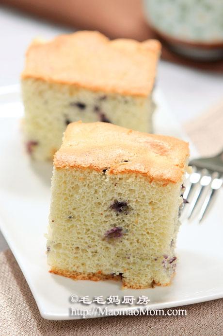 蓝莓戚风蛋糕4 【蓝莓戚风蛋糕】