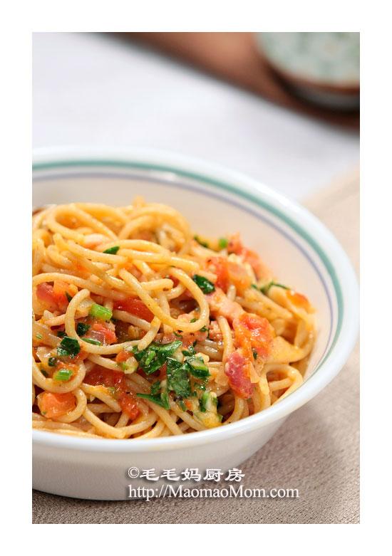西红柿腌肉意面2 Bread
