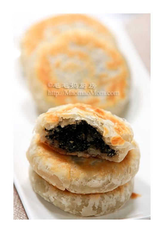 黑芝麻馅糖酥饼F2 Chinese dessert