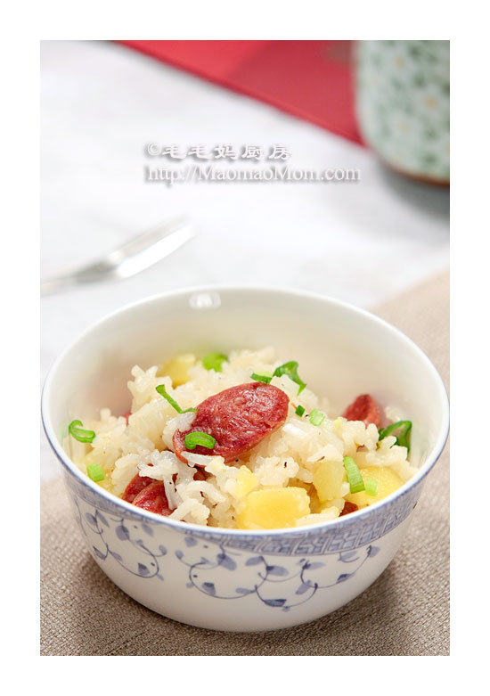 腊肠土豆饭F1 Pressure cooker recipes