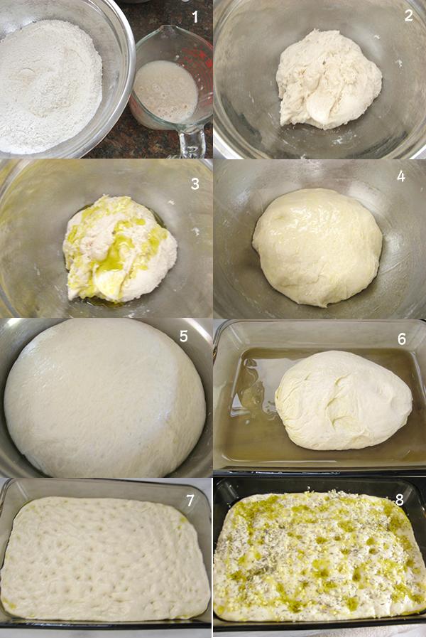 弗卡夏面包1 【Focaccia Bread】 【弗卡夏面包】