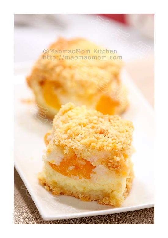桃子乳酪蛋糕Peach & meringue cheesecake