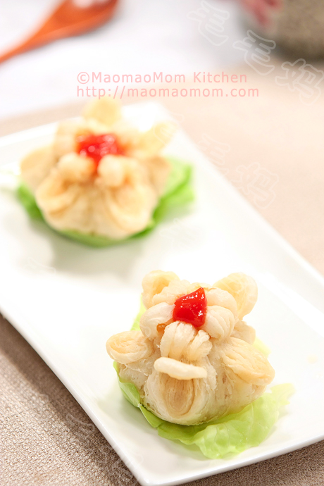 Begonia Blossom Shaped Shrimp Puff Pastry 鲜香海棠酥