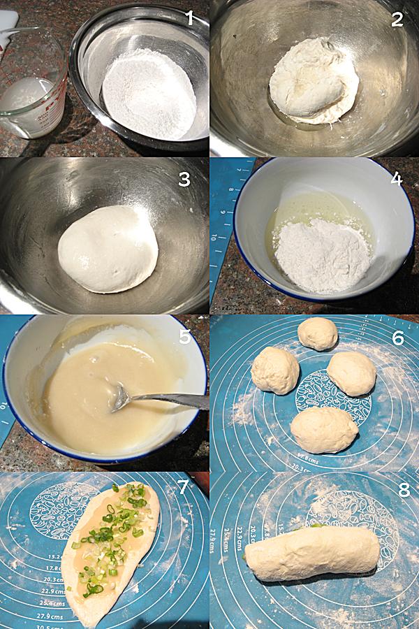葱油酥烧饼1  Scallion pan fried flatbread 葱油酥烧饼