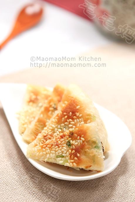 葱油酥烧饼F1  Scallion pan fried flatbread 葱油酥烧饼