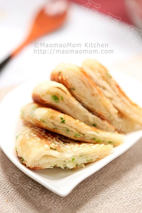 葱油酥烧饼F2  Scallion pan fried flatbread 葱油酥烧饼