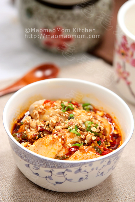 口水雞final Chicken with savory and spicy sauce 口水鸡