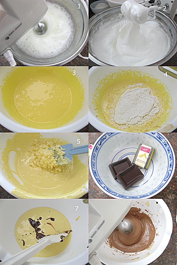 云石戚风蛋糕1 云石戚风蛋糕 Marble Chiffon Cake