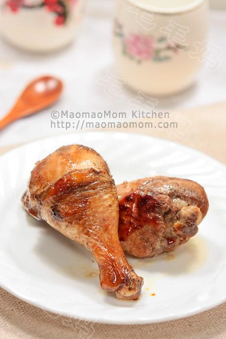 Baked five spice oyster sauce chicken drumsticks 蚝油五香烤鸡腿 ...