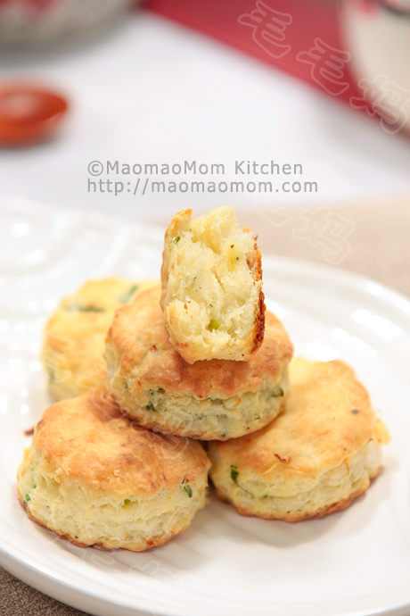 乳酪香虾松饼Cream cheese shrimp green onion biscuits