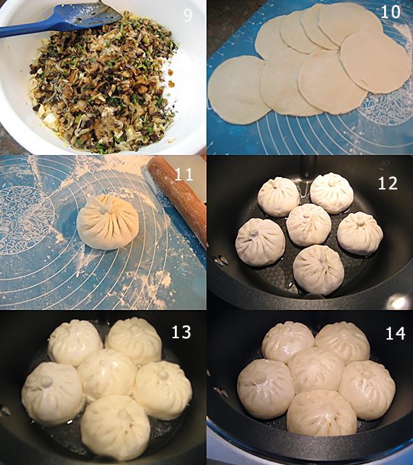 豆腐香菇粉丝煎包2 豆腐香菇粉丝煎包Pan fried buns with Tofu mushroom filling