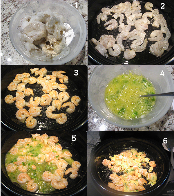 鸡蛋虾仁1 AirGo之虾仁炒蛋Air Fryer  shrimp and egg stir fry